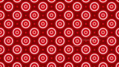 Red Concentric Circles Background Pattern Vector