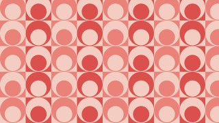 Light Red Seamless Geometric Retro Circles Pattern
