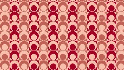 Red Seamless Geometric Retro Circles Pattern Background