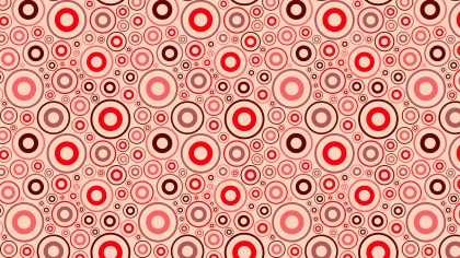 Red Seamless Geometric Circle Pattern Vector Art