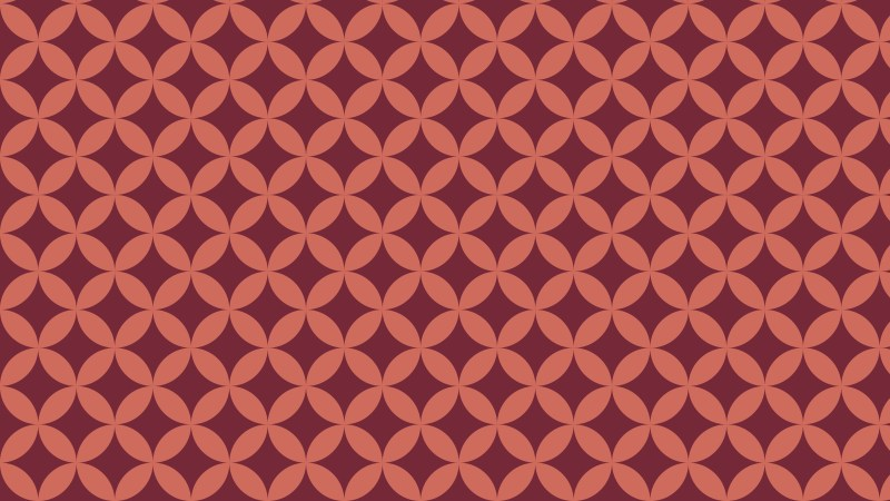 Red Intersecting Circles Pattern Background Design