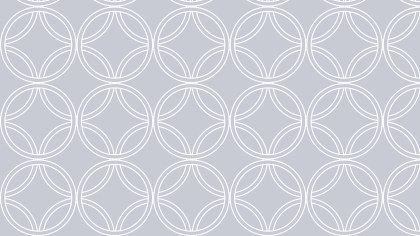 White Intersecting Circles Background Pattern Image