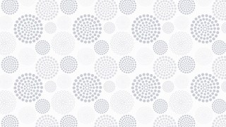 White Seamless Dotted Concentric Circles Pattern