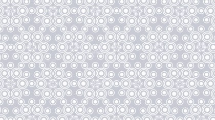 White Seamless Geometric Circle Background Pattern