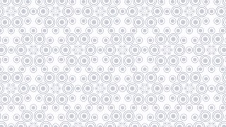 White Circle Pattern Vector Graphic
