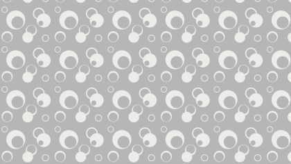 White Geometric Circle Pattern Vector Illustration
