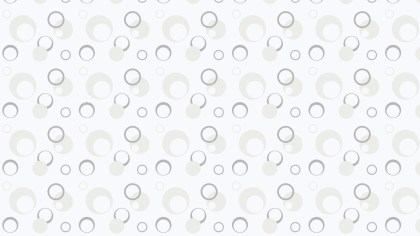 White Geometric Circle Pattern Background Vector