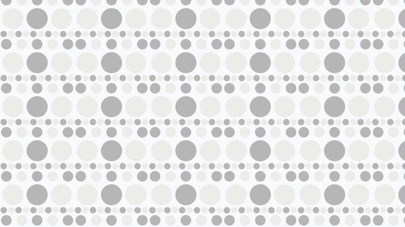 White Seamless Circle Background Pattern Design