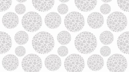 White Seamless Dotted Circles Pattern Background Illustration