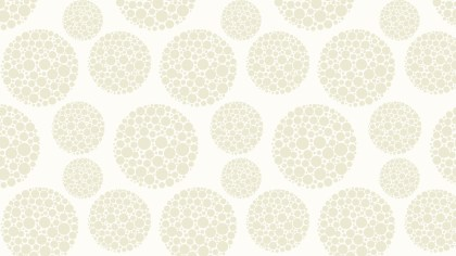 White Seamless Dotted Circles Background Pattern Design
