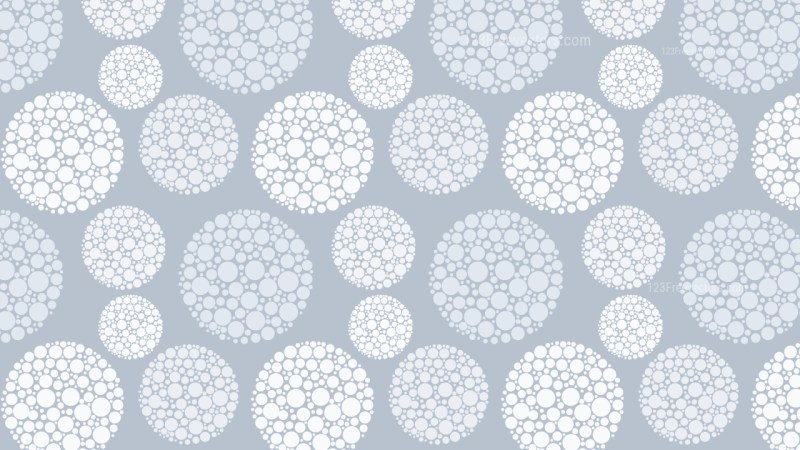 White Dotted Circles Pattern