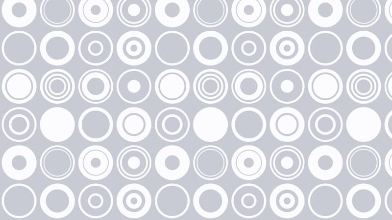 White Seamless Geometric Circle Pattern Background