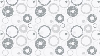 White Random Scattered Circles Pattern Vector Graphic