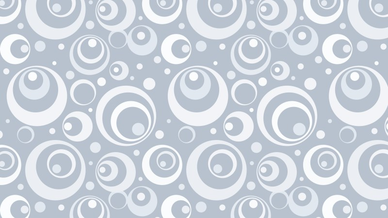 White Geometric Circle Background Pattern Image