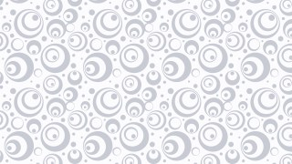 White Seamless Circle Pattern Vector Graphic