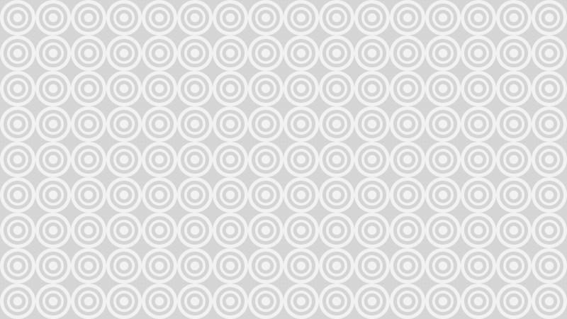 White Seamless Geometric Circle Pattern Background Vector