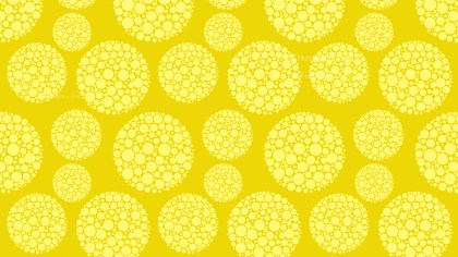 Yellow Seamless Dotted Circles Pattern