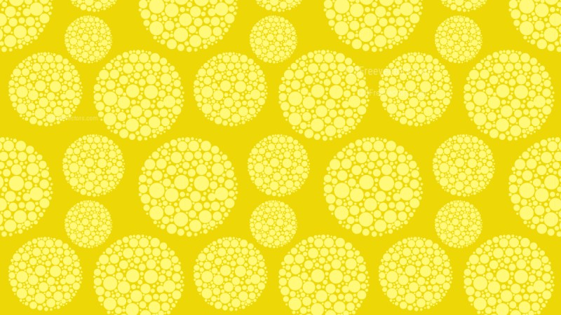 Yellow Seamless Dotted Circles Pattern