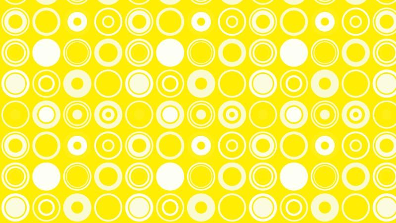 Yellow Geometric Circle Pattern
