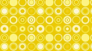 Yellow Seamless Circle Pattern