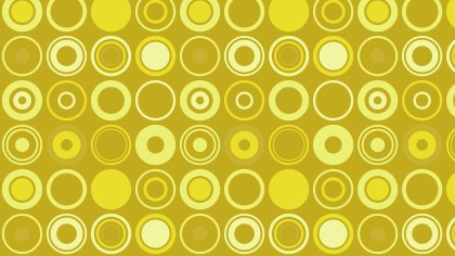 Yellow Seamless Circle Pattern Background