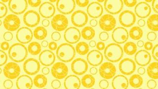 Yellow Seamless Circle Background Pattern