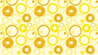 Yellow Seamless Geometric Circle Pattern