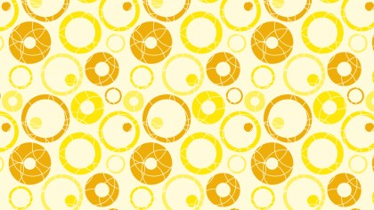 Yellow Seamless Geometric Circle Pattern
