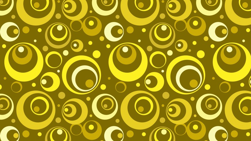 Yellow Circle Background Pattern Vector Graphic
