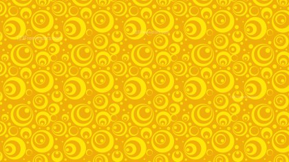 Yellow Retro Circles Seamless Wallpaper Pattern