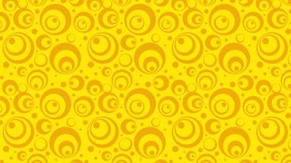 Yellow Retro Circles Pattern Vector Image