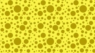 Yellow Seamless Random Circle Dots Background Pattern