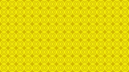 Yellow Seamless Concentric Circles Background Pattern Illustration
