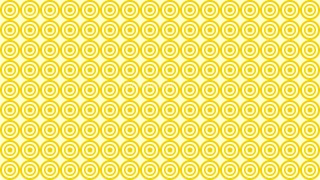Yellow Concentric Circles Pattern