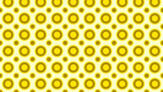 Yellow Seamless Circle Pattern Vector