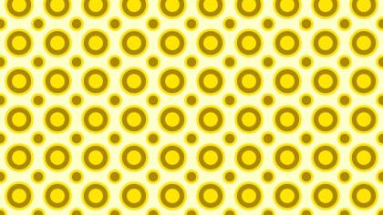 Yellow Seamless Circle Pattern Vector