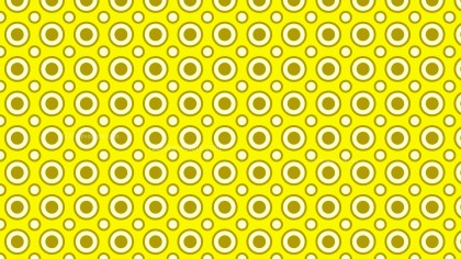 Yellow Seamless Circle Pattern Background Vector Art