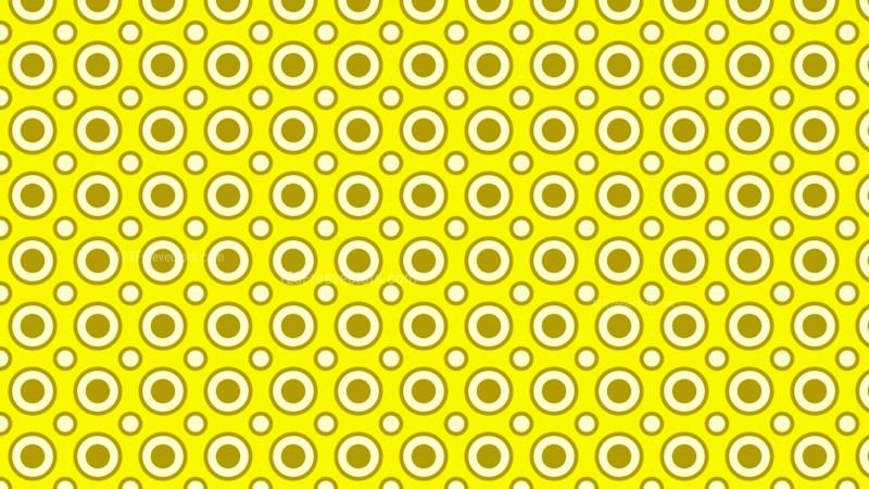 Yellow Seamless Circle Pattern Background Vector Art