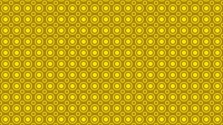 Yellow Seamless Circle Background Pattern Graphic