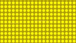 Yellow Seamless Geometric Circle Pattern Background Design