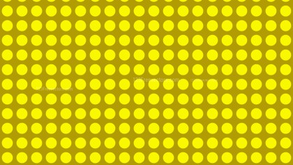 Yellow Seamless Geometric Circle Pattern Background Design