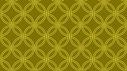 Yellow Seamless Overlapping Circles Pattern