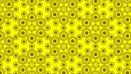 Yellow Geometric Circle Pattern
