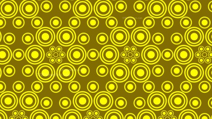 Yellow Geometric Circle Pattern Background