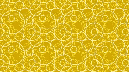 Yellow Seamless Overlapping Circles Pattern Background