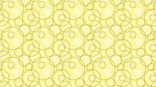Light Yellow Seamless Overlapping Circles Background Pattern
