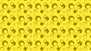 Yellow Seamless Geometric Circle Background Pattern