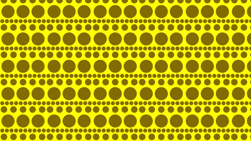 Yellow Circle Background Pattern Vector