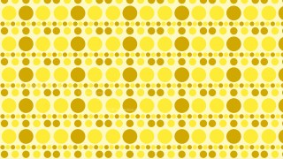 Yellow Retro Circles Pattern Background Illustrator