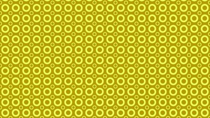 Yellow Geometric Circle Pattern Vector Art